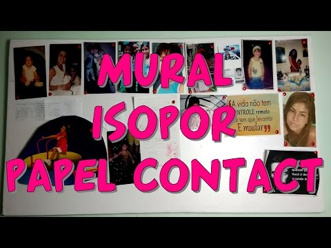 Diy como fazer mural com isopor papel contact youtube for Mural de isopor e eva