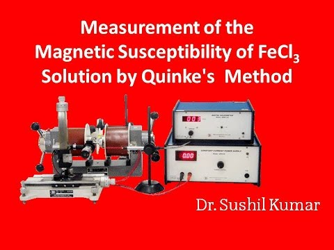 apniPhysics|Measurement of the Magnetic Susceptibility of FeCl3 Solution by Quinke's Method