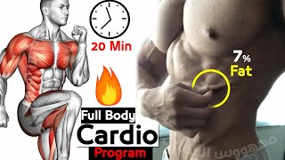 HIIT Cardio 20 min Workout 🔥 With Warmup 🔥 Bodyweight No Equipment at Home