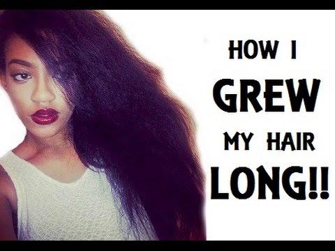 How I Grew My Hair Long - Natural Hair - YouTube
