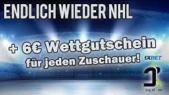 Wir sind zurück! | 6€ Wettgutschein für jeden Zuschauer! NHL Tipps!