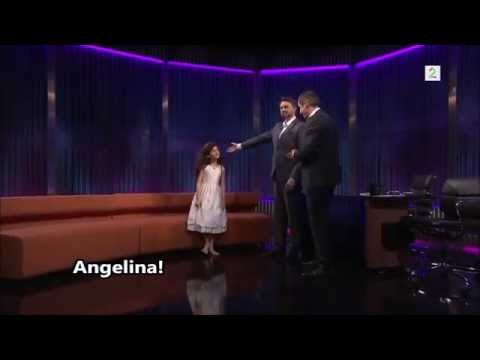 Angelina Jordan - Fly Me to the Moon - interview with subtitles