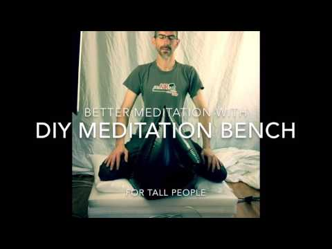 DIY Meditation Bench for Tall People