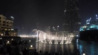 Absolutely Amazing Dubai Fountain Show, Burj Khalifa (Nov 2016)