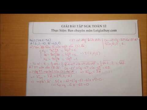 Giải bài 2 trang 91 SGK Hình học 12