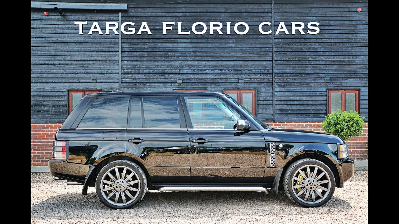 Range Rover 4 2 V8 Supercharged in Java Black with Two Tone Ebony