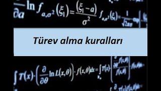 13) Türev alma kuralları- Türev- Calculus 1