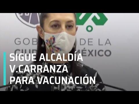 Vacunación contra COVID-19 en alcaldía Venustiano Carranza será el 17 de marzo: Sheinbaum