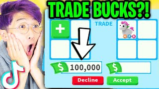 Can We Use ADΟPT ME TIK TOK HACKS To TRADE BUCKS!? (ACTUALLY WORKED?!)
