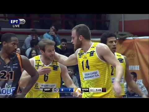 Antwaine-Wiggins (#30 Yellow Jersey, 16 Points, 4 Rebounds, 2 Asists) Promitheas at Lavrio