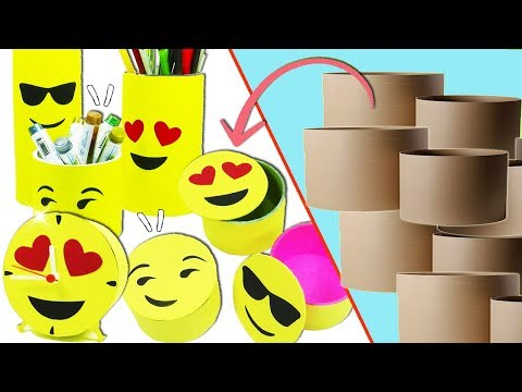 emojis-ideas-with-cardboard-tubes-(recycling)---ecobrisa-diy