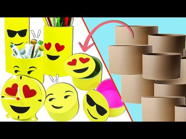Emojis Ideas with Cardboard Tubes (Recycling) - Ecobrisa DIY