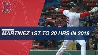 J.D. Martinez hits his league-leading 20th home run