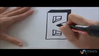 Cómo hacer la letra B en 3D - How to make the letter B in 3D