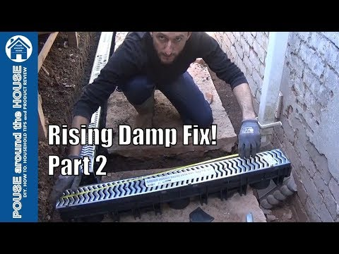How to fix rising damp & penetrating damp - (PART 2) Channel drain / french drain installation.