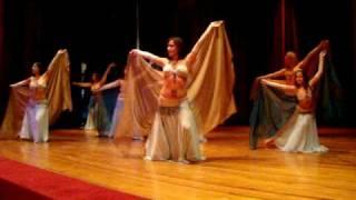 """Bellydance """"Ice Queen""""  danza arabe coreografia con velo"""