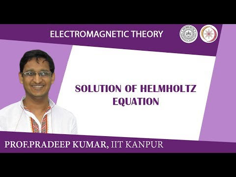 Solution of Helmholtz equation