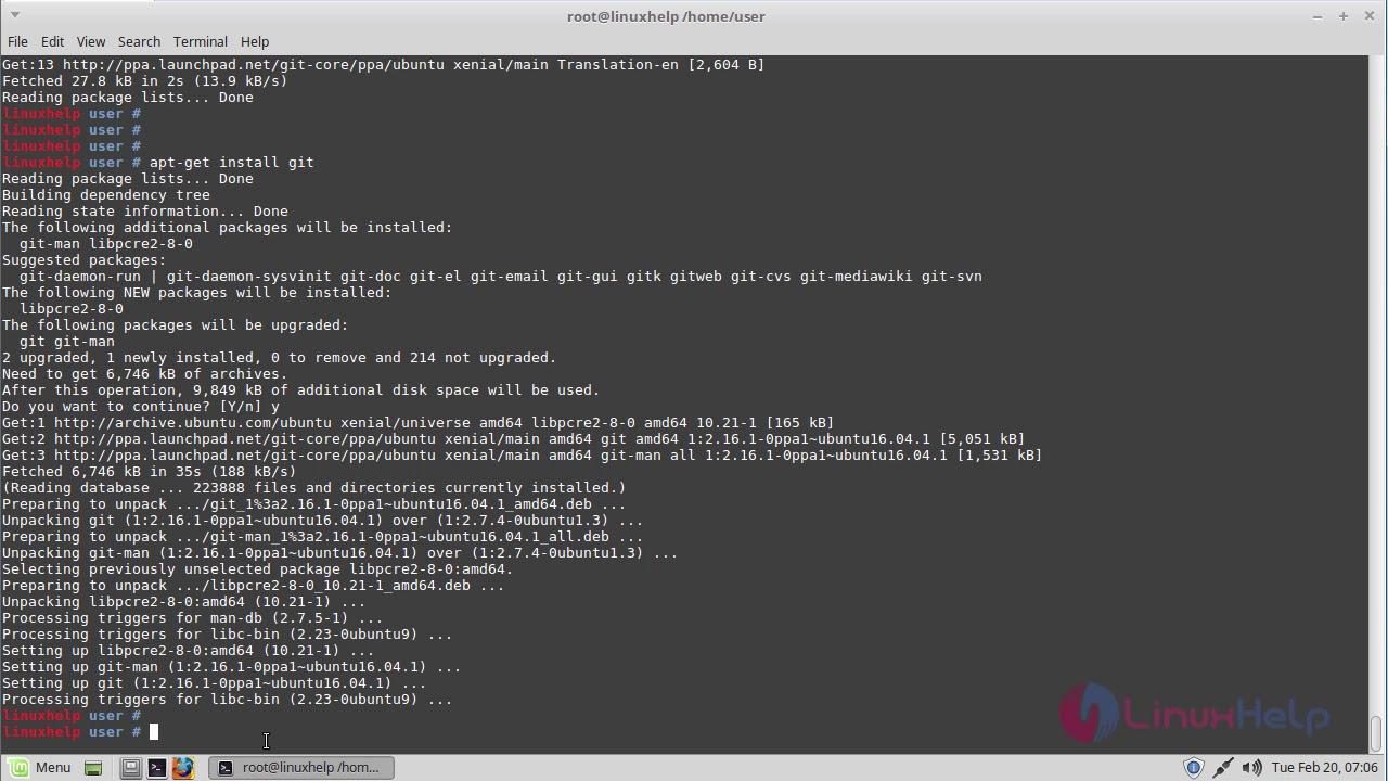 install git-core debian 8