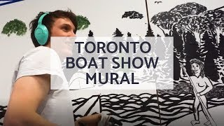 Toronto Boat Show - Boarderpass Canada Mural