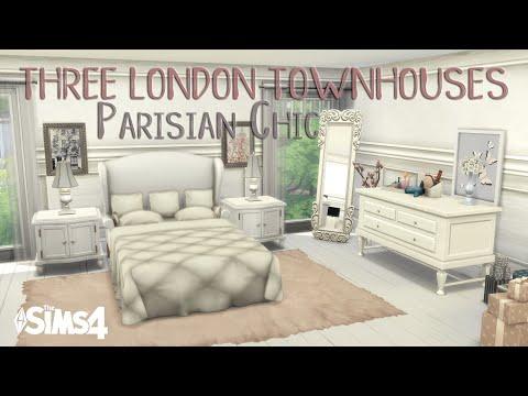THREE LONDON TOWNHOUSES (PT 2/3) Parisian Chic | No CC | Stop Motion Build | The Sims 4