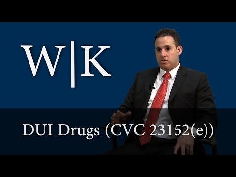 DUI Drugs (VC 23152(e))
