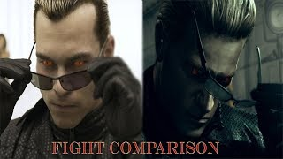 Albert Wesker: Game and Movie Fight Comparison