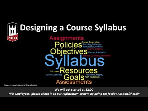 Developing a Course Syllabus