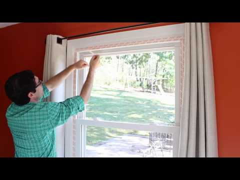 how to weatherize windows with plastic film insulation by home repair tutor youtube. Black Bedroom Furniture Sets. Home Design Ideas