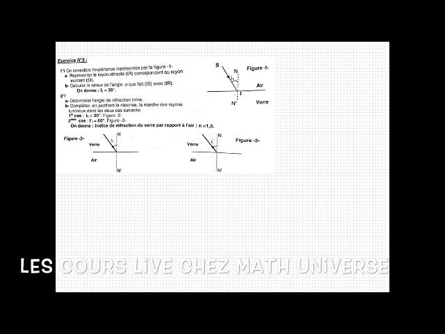 Les cours en ligne chez mathUniverse مرحبا بالجميع في الدروس الصيفية