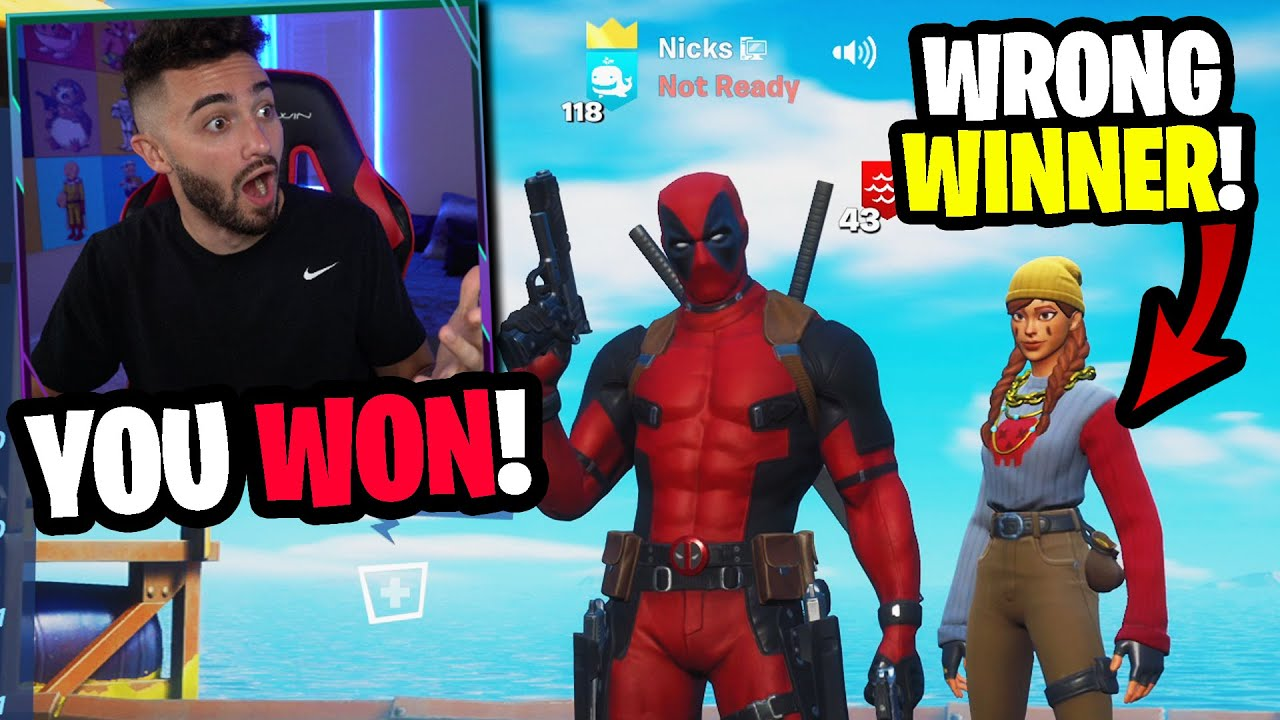 I crowned the wrong winner in my customs... (im sorry)