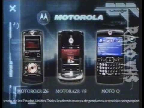 Publicidad Celulares 2008 Motorokr Z6 Motorazr V8 Moto Q Motorola