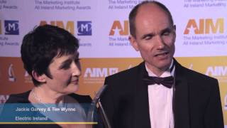 Advertising Campaign Award Winner Jackie Garvey & Tim Wynne, Electric Ireland