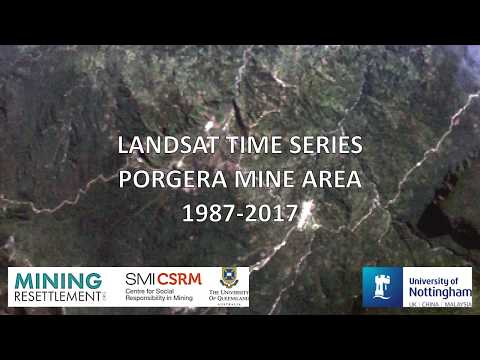 Landsat timeseries clip on mine footprint and land use change