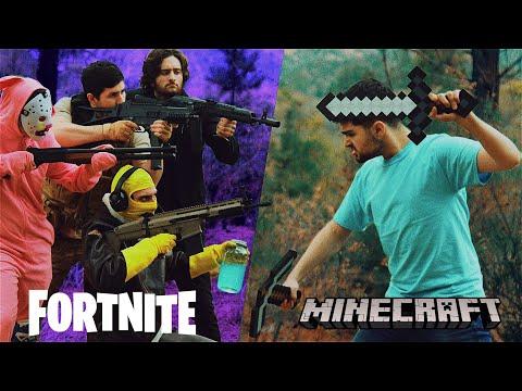 Fortnite vs Minecraft (Live Action Movie)