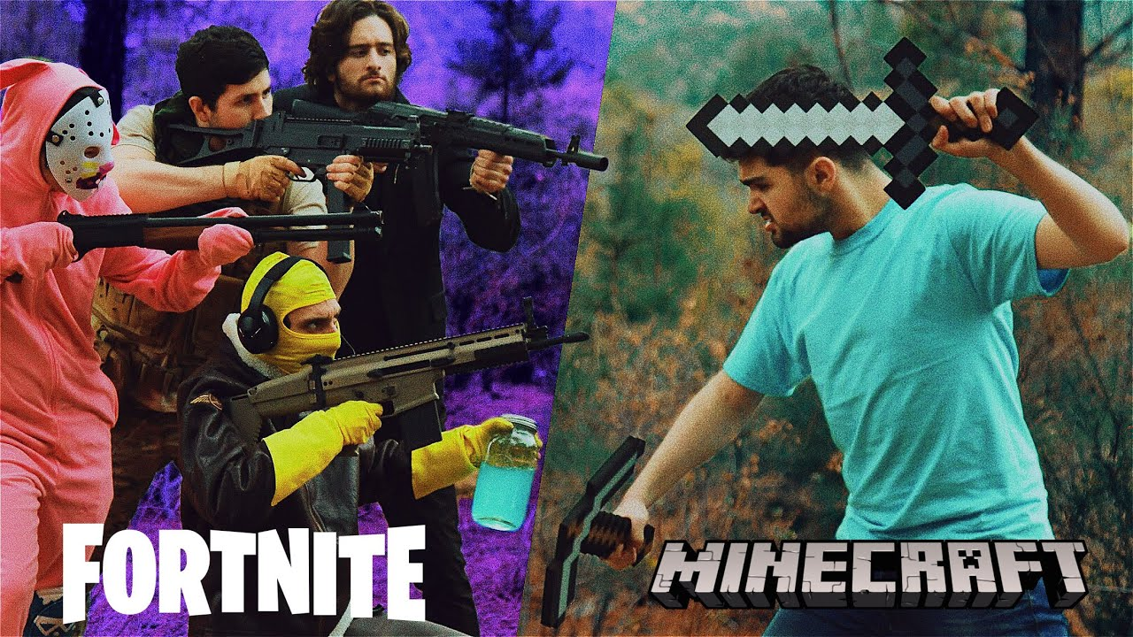 Minecraft vs Fortnite - YouTube