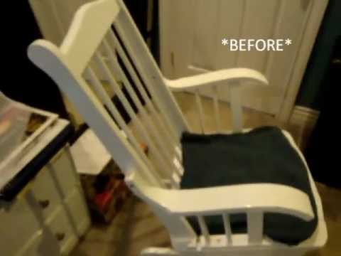 how to make a rocking chair ikea covers australia / glider transformation thrift store find! - youtube