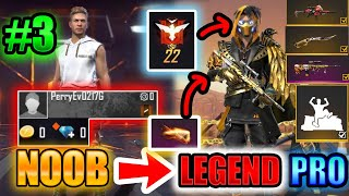 Free Fire new account to *PRO* challenge #3 LEGENDARY you wish its your account😱🔥