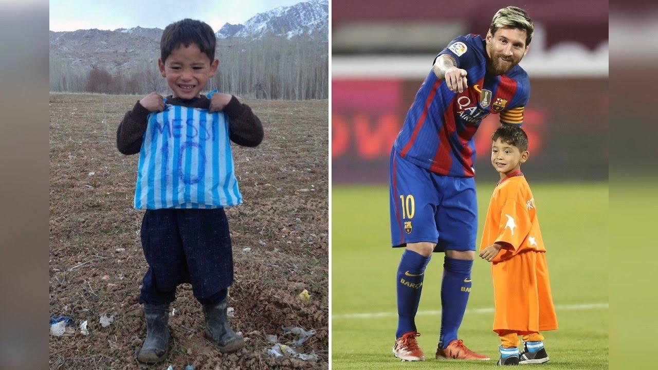 Лионель месси встретился с афганским мальчиком муртазой ахмади