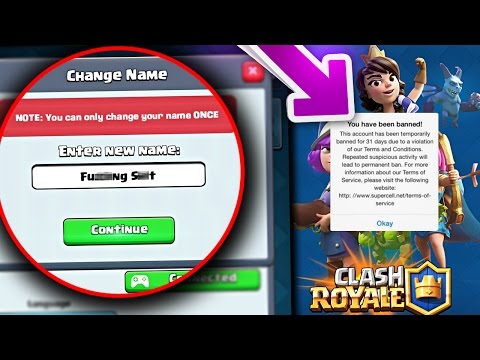 Thumbnail: WHAT HAPPENS if YOU MAKE YOUR NAME a SWEAR/BAD/RUDE WORD!? Clash Royale [ReTrex]
