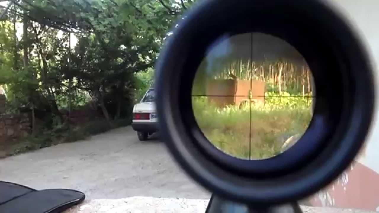 Hatsan Mod 85 Sniper 40 metre atış - YouTube