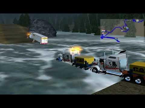 18 wheels of steel haulin peterbilt heavy haul ,kw T800 Oversize load  in Creston (video HD) |