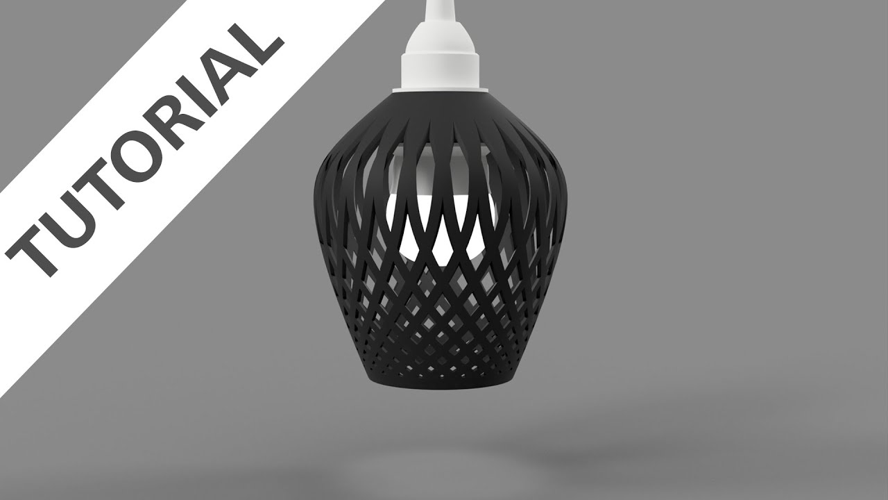 Fusion 360 design a 3d printed lampshade youtube aloadofball Gallery