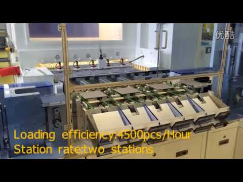Photovoltaic silicon wafer loading  or unloading machine