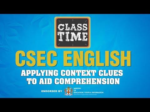 CSEC English - Applying Context Clues to Aid Comprehension  -  February 15 2021