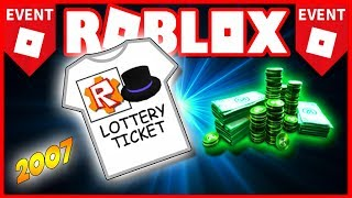 The *ROBLOX EVENT* of (2007) A FREE ROBUX LOTTERY