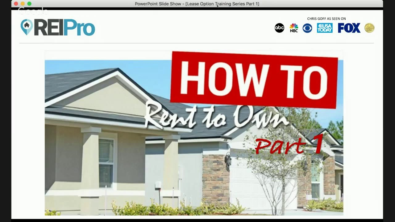 Lease option real estate training part 1 of 3 youtube lease option real estate training part 1 of 3 ccuart Image collections