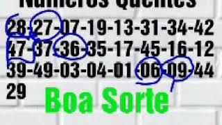 1825 Dupla Sena é daqui pra melhor os números estão vindo