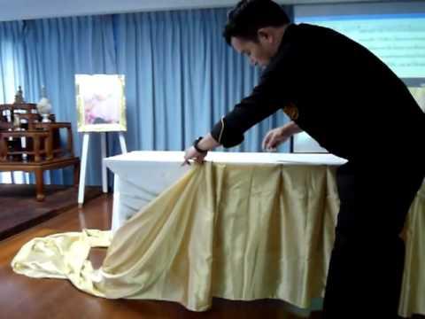 Good การทำ Skirt ลายพื้นฐาน, Making Basic Table Skirt