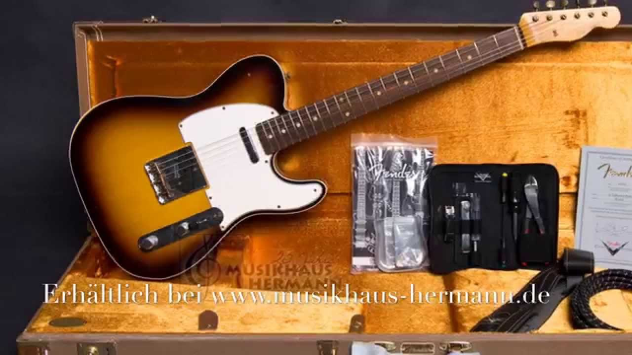 fender custom shop 1962 telecaster relic chocolate 3tone sunburst youtube. Black Bedroom Furniture Sets. Home Design Ideas