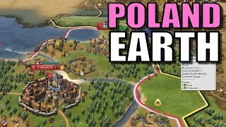 Civ 6: Poland Gameplay [True Start Earth Location Map] Let's Play Civilization 6 Poland | Part 3